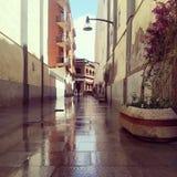 Calle después de la lluvia Foto de archivo