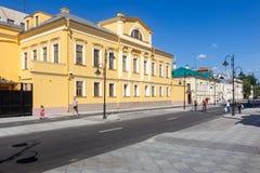 Calle después de la renovación, Moscú, Rusia de Pyatnitskaya Imagen de archivo libre de regalías