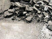 Calle destruida para la construcción Foto de archivo libre de regalías