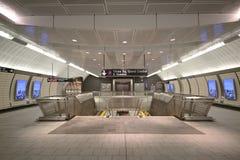 34 calle - diseño interior de la estación de metro de las yardas del Hudson en NY Foto de archivo libre de regalías