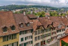 Calle en Aarau, Suiza Foto de archivo