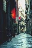 Calle en Barcelona Imagen de archivo