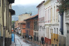 Calle en Bogotá Imagen de archivo libre de regalías