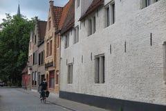Calle en Brujas, Bélgica Fotografía de archivo