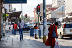 Calle en Bulawayo Zimbabwe imagen de archivo