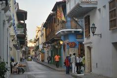 Calle en Cartagena Fotos de archivo libres de regalías