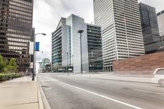 Calle en Chicago, Illinois, los E.E.U.U. Fotografía de archivo