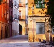 Calle en ciudad vieja Logrono Foto de archivo libre de regalías