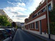 Calle en Courbevoie Foto de archivo