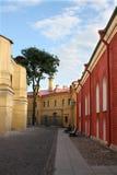 Calle en día asoleado Imagen de archivo