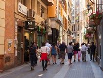 Calle en distrito viejo Murcia, España Imagen de archivo libre de regalías