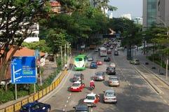 Calle en el centro de ciudad de Kuala Lumpur Fotos de archivo libres de regalías