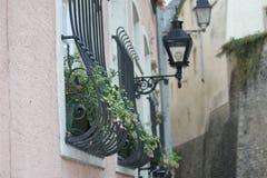 Calle en el centro de ciudad de Luxemburgo Fotos de archivo
