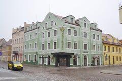 Calle en el centro de Klaipeda Imagenes de archivo