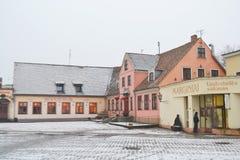 Calle en el centro de Klaipeda Imagen de archivo libre de regalías