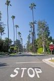 Calle en el distrito de Beverly Hills, Los Ángeles Foto de archivo