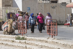Calle en el EL Djem Imagenes de archivo