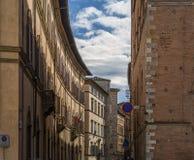 Calle en el itali de Siena Imagen de archivo