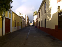 Calle en el La Laguna Fotos de archivo libres de regalías