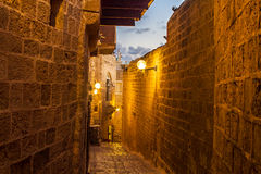 Calle en el puerto viejo de Jaffa Imagenes de archivo