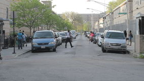 Calle en el verde de Cabrini, Chicago metrajes