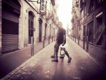 Calle en España foto de archivo