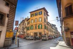 Calle en Florencia, Italia Foto de archivo libre de regalías