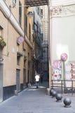 Calle en Génova fotos de archivo