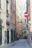Calle en Génova imagen de archivo libre de regalías