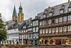 Calle en Goslar, Alemania imagenes de archivo