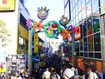 Calle en Harajuku, Tokio de las compras de Takeshita Imágenes de archivo libres de regalías