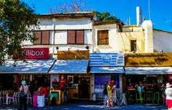 Calle en Heraklion la capital de Creta en la Grecia Imágenes de archivo libres de regalías