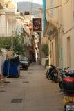 Calle en Hersonissos Foto de archivo libre de regalías