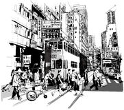 Calle en Hong Kong Foto de archivo