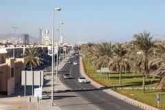 Calle en Kalba, emirato de Fudjairah, UAE Imagen de archivo