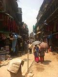 Calle en Katmandu Fotos de archivo libres de regalías