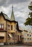 Calle en Kungsbacka Suecia Imagen de archivo