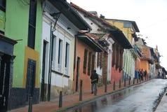 Calle en la Bogotá imagenes de archivo