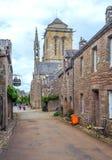Calle en la Bretaña francesa Imagen de archivo