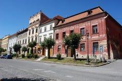 Calle en la ciudad de Levoca Imágenes de archivo libres de regalías