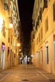 Calle en la ciudad de Málaga Foto de archivo