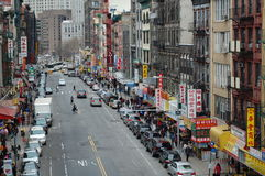 Calle en la ciudad de New York City China Imagen de archivo libre de regalías
