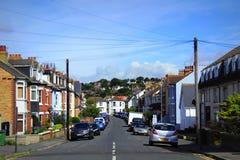 Calle en la ciudad Kent Reino Unido de Hythe Imagen de archivo