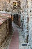 Calle en la ciudad vieja Eze en Francia fotografía de archivo libre de regalías