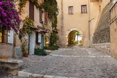 Calle en la ciudad vieja en Francia Imagen de archivo