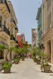 Calle en La Habana central Foto de archivo