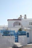 Casa en la isla de Santorini imagenes de archivo