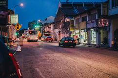 Calle en la noche en Georgetown fotografía de archivo
