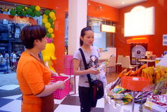 Calle en la tienda de chucherías, Changsha, China de Taiping Fotografía de archivo