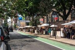 Calle en Lower Manhattan, New York City Imagen de archivo